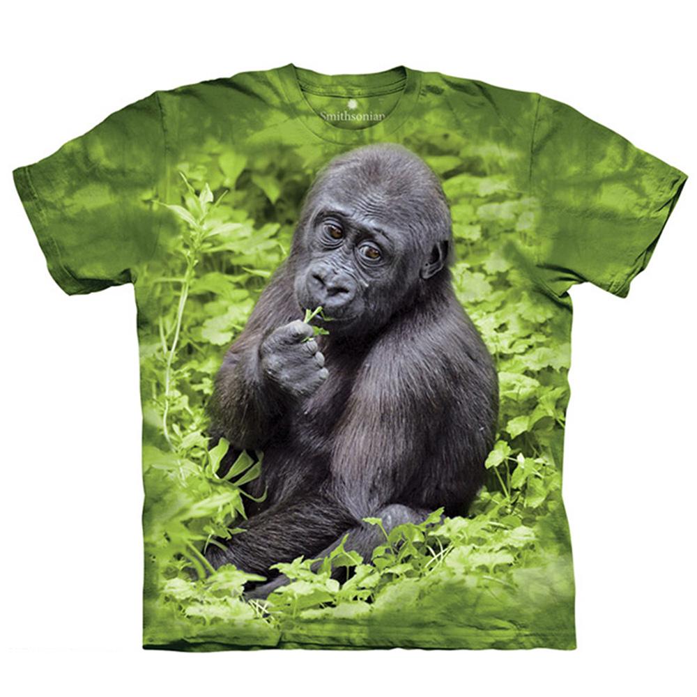 【摩達客】美國進口The Mountain Smithsonian系列 猩猩Kojo 純棉環保短袖T恤[現貨+預購]S青少年版