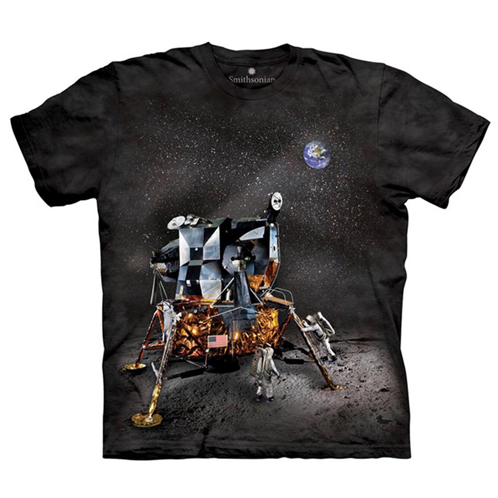 【摩達客】美國進口The Mountain Smithsonian系列 阿波羅登月小艇 純棉環保短袖T恤[現貨+預購]S青少年版