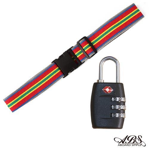 ABS愛貝斯 台灣製造繽紛旅行箱束帶TSA海關鎖配件組 (99-018束帶A13)