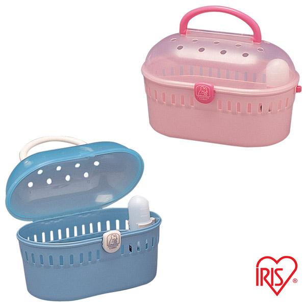 ◆MIX米克斯◆日本IRIS.攜帶式果凍色鼠籠【HQ-250】藍色/粉紅二色可選