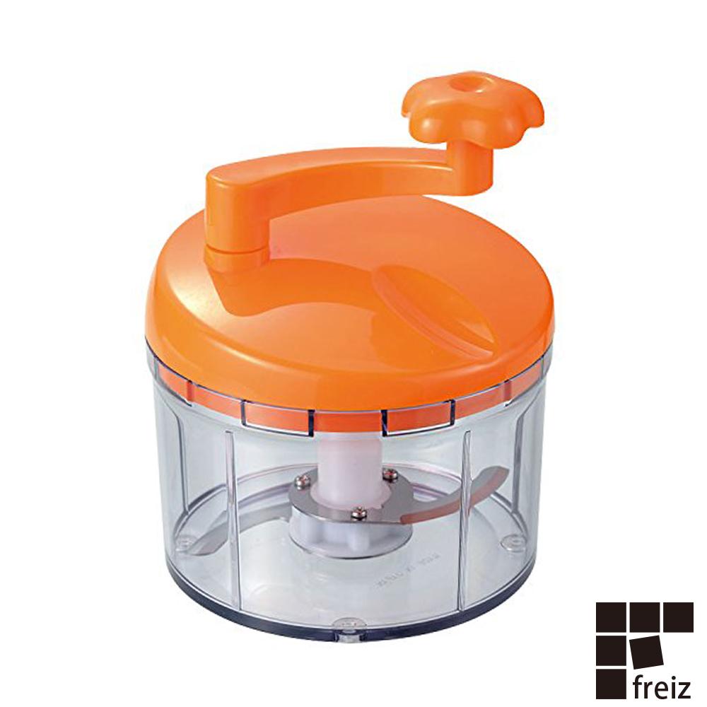 【FREIZ】日本進口蔬菜切碎器(橘)