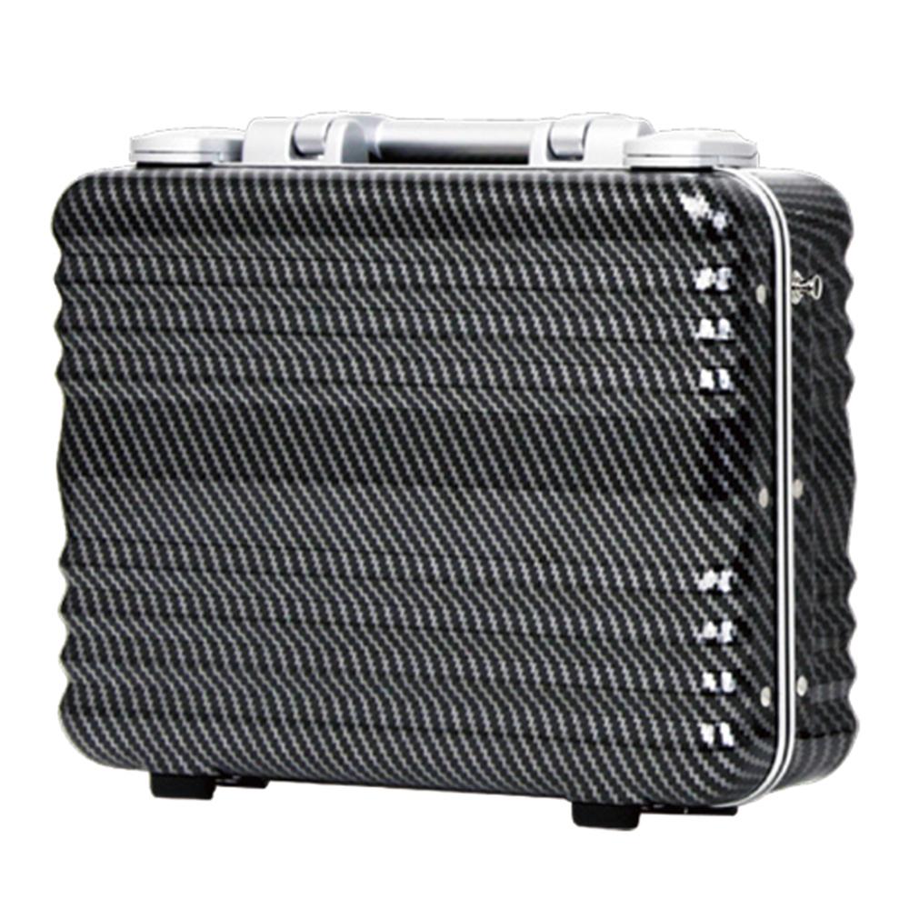 日本 LEGEND WALKER 6204-34-14吋 PC公事手提箱-其他碳纖黑