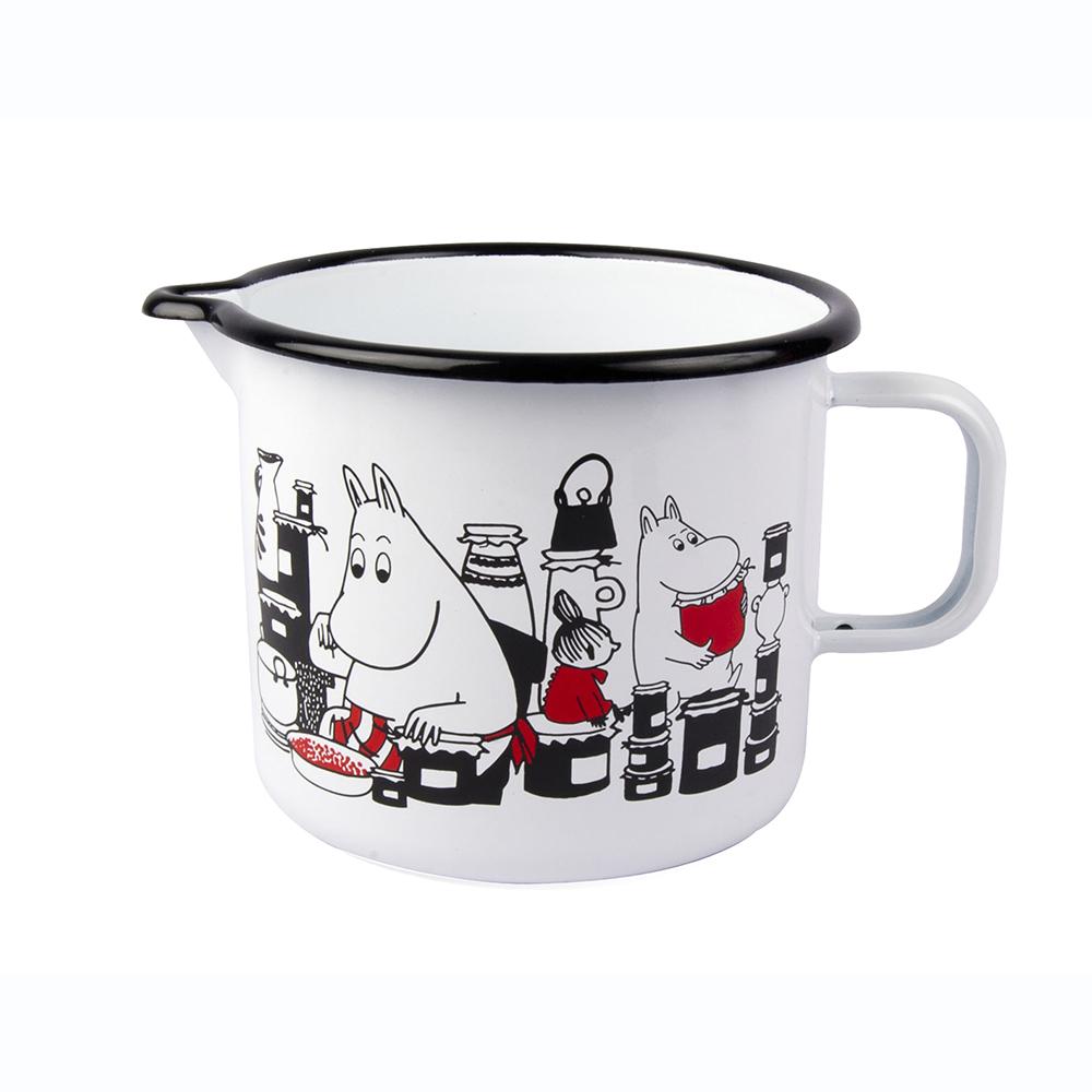 [Muurla]Moomin嚕嚕米琺瑯水壺1.3L-白