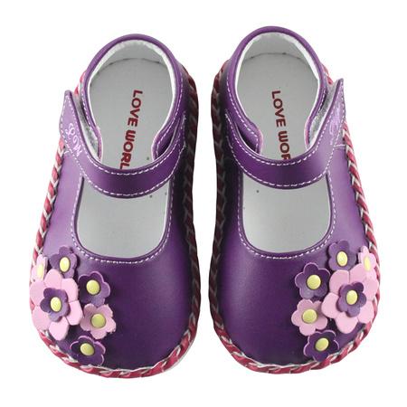 【愛的世界】庭園寶寶鞋/學步鞋/- 製-  13紫色