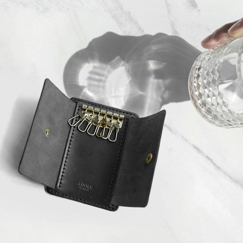 【ADOLE】DIY 鑰匙包黑色