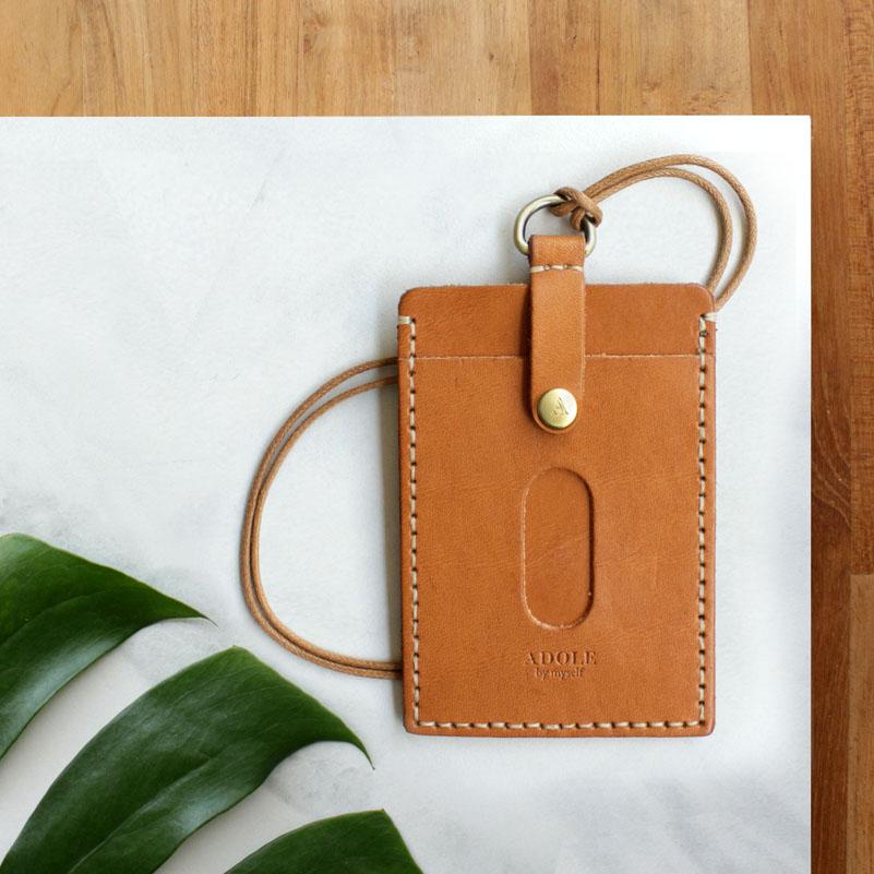 【ADOLE】DIY 證件套棕色