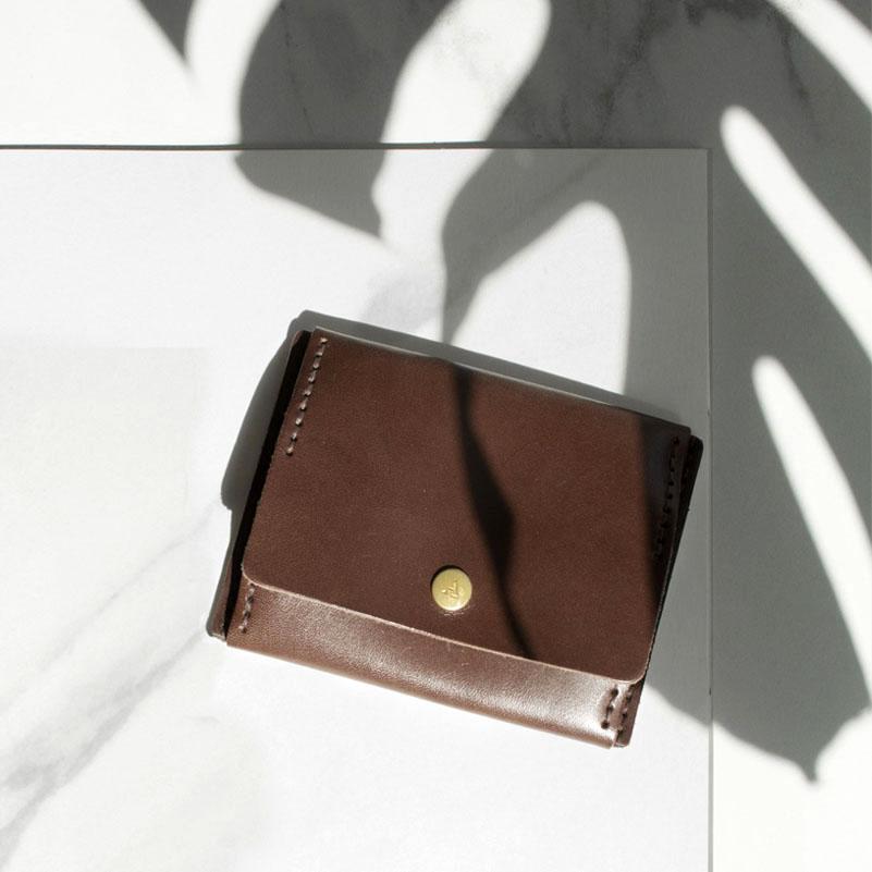 【ADOLE】DIY 零錢包焦茶色