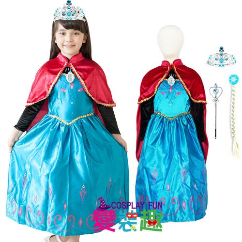 【變裝趣】韓國正版冰雪奇緣系列Elsa艾爾莎造型服1410加冕版S100-110cm