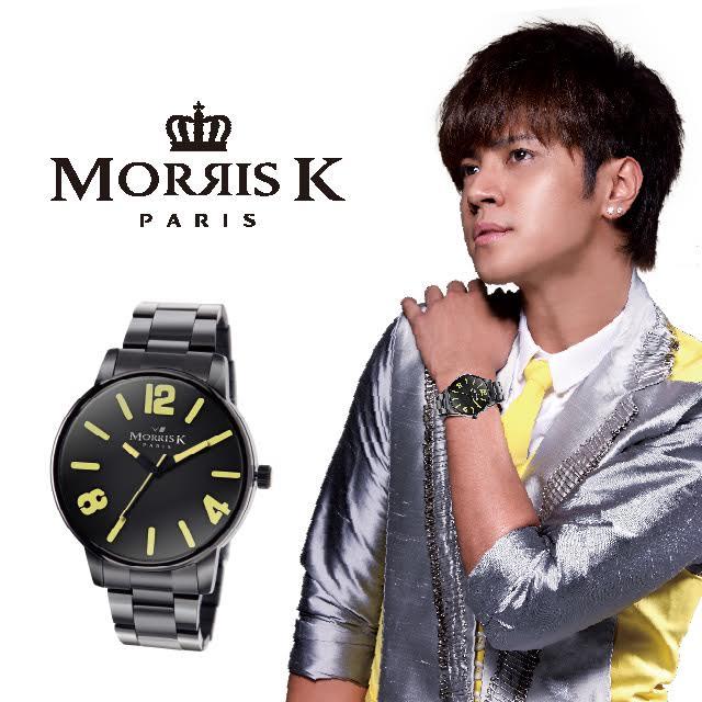 MORRIS K 擁你入懷 跳色混搭腕錶~黑x黃 36mm MK11095~MB21