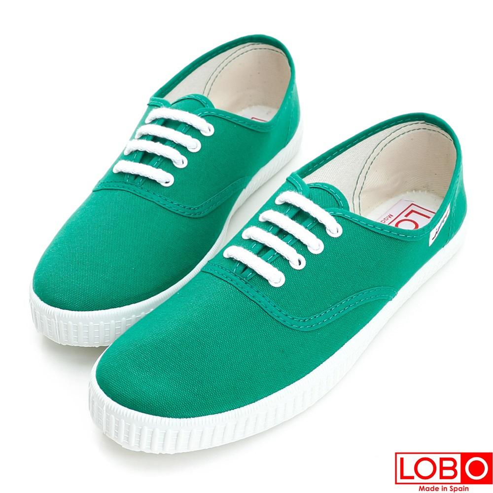 ~LOBO~西班牙百年品牌Bambas環保膠底休閒鞋~綠色 情侶親子款34綠色