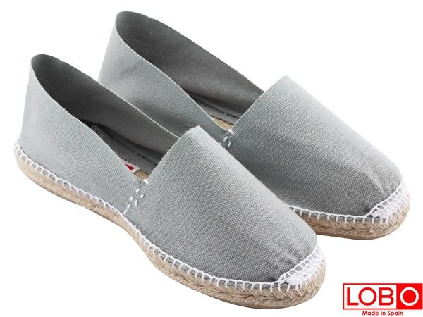 ~LOBO~西班牙百年品牌Plana 草編平底鞋~灰色 情侶男 女款34灰色