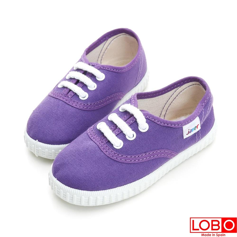 ~LOBO~西班牙百年品牌Bambas環保膠底休閒童鞋~紫色 親子款21紫色