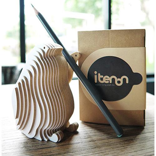 itenon-木作企鵝名片座