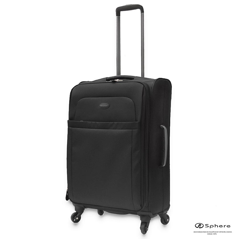 【Sphere斯費爾】24吋360°超輕加寬旅行箱(亮黑色)24吋