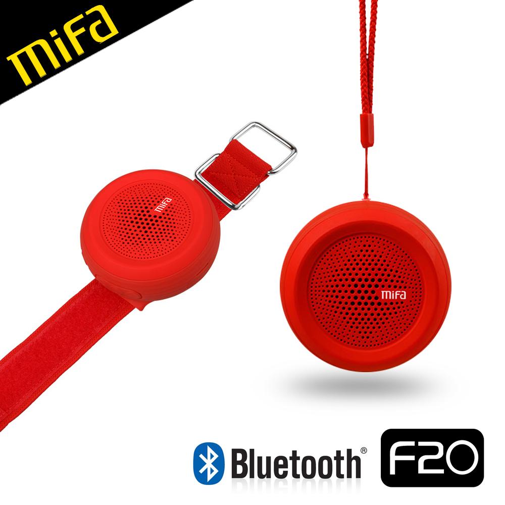 MiFa F20 運動臂帶式藍芽喇叭紅色
