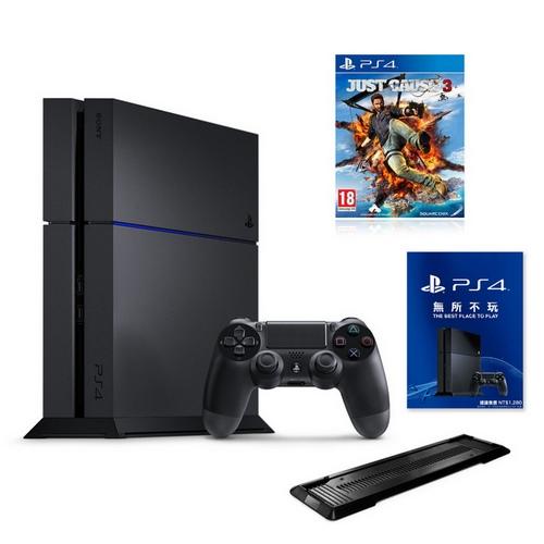 PS4 CUH-1207 500G 極致黑 +熱門遊戲3選1+一年保固-專+直立架(副廠黑)正當防衛3