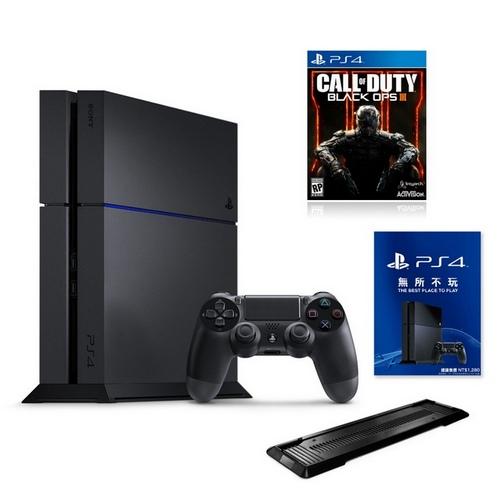 PS4 CUH-1207 500G 極致黑 +熱門遊戲3選1+一年保固-專+直立架(副廠黑)黑色行動3