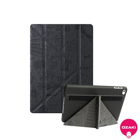 Ozaki O!coat Travel 多角度iPad mini4智能保護套羅馬(深灰)