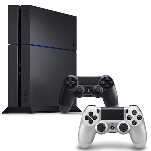 SONY PS4主機 CUH-1207BB01系列1TB - 極致黑+限量手把+一年保固卡-專銀黑色
