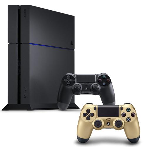 SONY PS4主機 CUH-1207BB01系列1TB - 極致黑+限量手把+一年保固卡-專金色