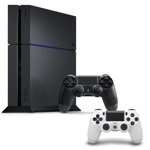 SONY PS4主機 CUH-1207BB01系列1TB - 極致黑+限量手把+一年保固卡-專冰河白