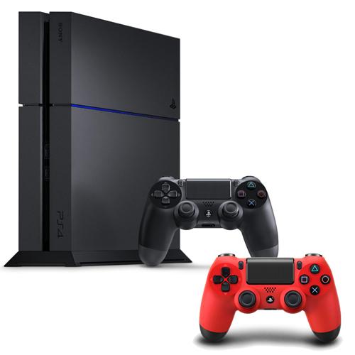 SONY PS4主機 CUH-1207BB01系列1TB - 極致黑+限量手把+一年保固卡-專熱情紅