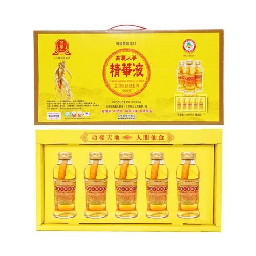 金蔘 高麗人蔘精華液禮盒-全素(5入/盒,共1盒)