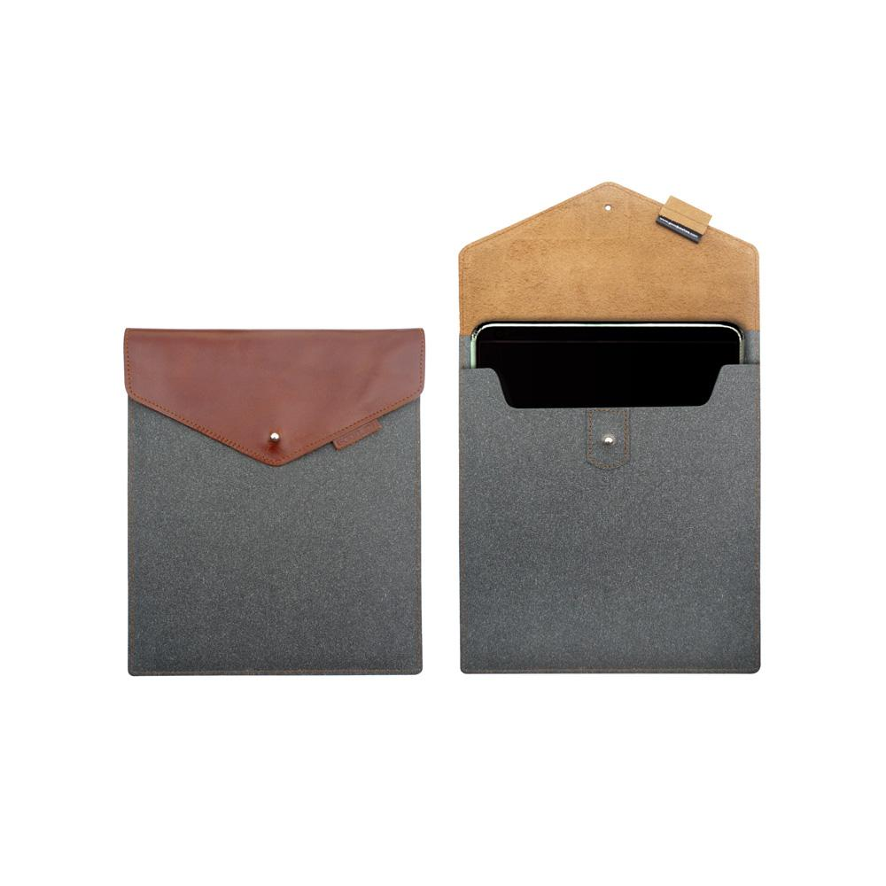 GOODJOB 複合系列-iPad保護套(皮革灰)