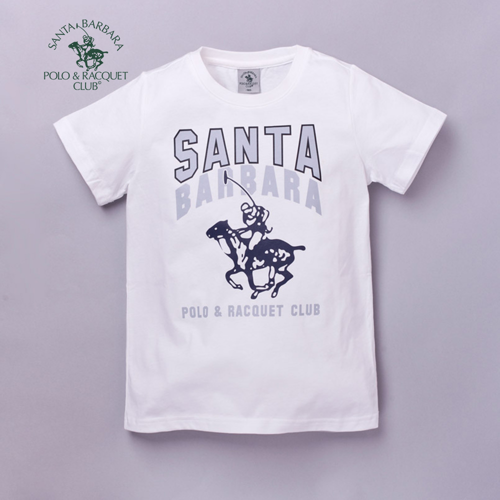 【S.B. POLO】經典大LOGO圖樣T恤(米)140米