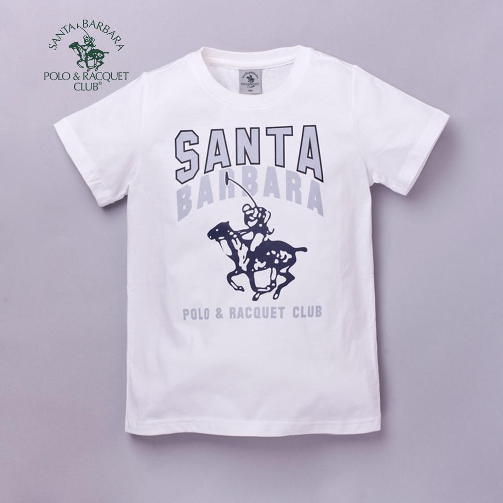 【S.B. POLO】經典大LOGO圖樣T恤(米)160米