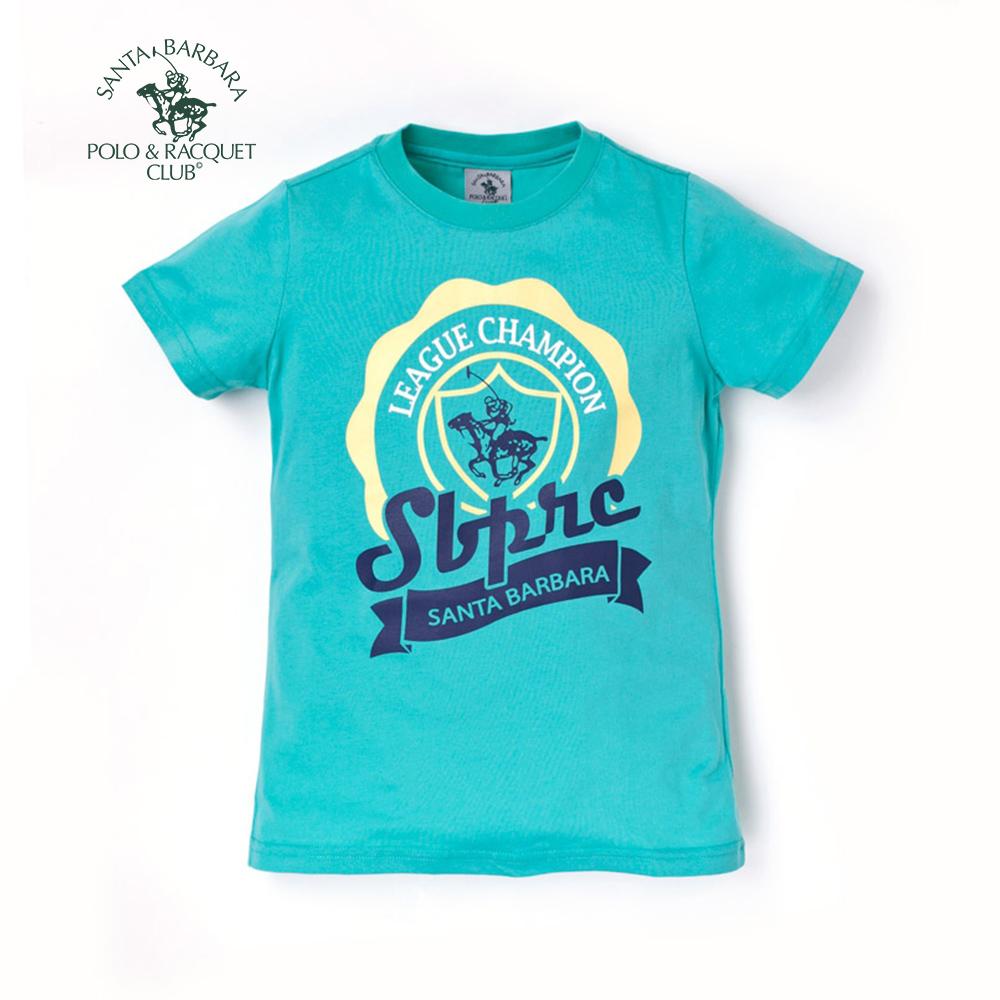 【S.B. POLO】皇家馬球圖騰大徽章印花T恤(綠)120綠