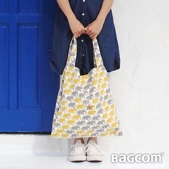 Bagcom Masaki B~Tote 雙層 包~黃灰象