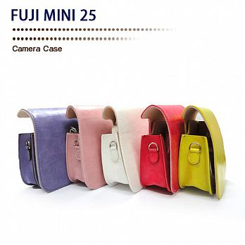 SPLASH 手工皮套 For FUJI MINI 25 (兩件式) 瘋馬型粉紅