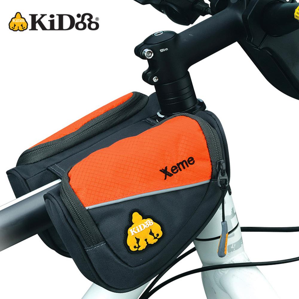 【KiDooo騎多】Xeme 單車上管包橙