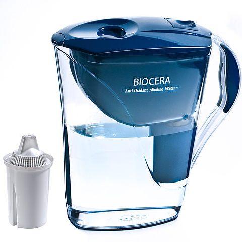 保健淨水礦泉水-Biocera養生濾水壺-鹼性小分子能量水富含氫氣補充礦質促進代謝(一壺一濾心加贈1濾心)