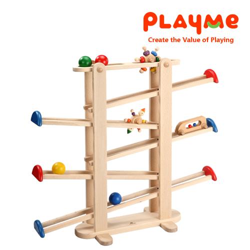 PlayMe:) 遊樂園-歡樂軌道滾球玩具