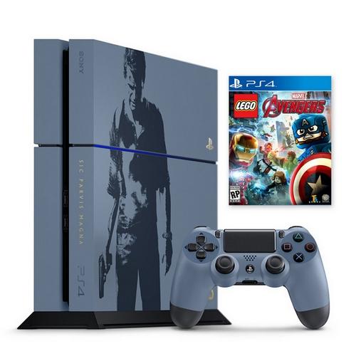 PS4 秘境探險4 盜賊末路-主機同捆組+樂高 復仇者聯盟