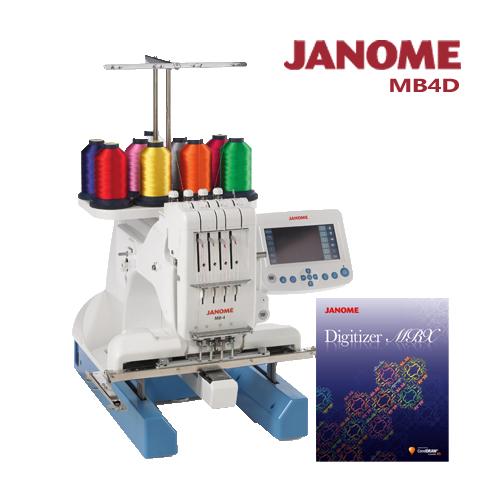 (買一送一)MB-4職業刺繡機加送刺繡軟體組合