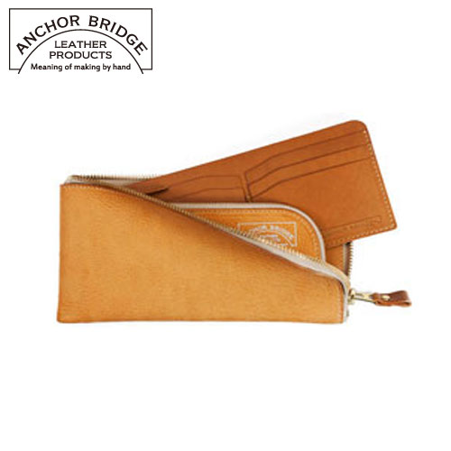 ANCHOR BRIDGE《日本手工》義大利Vachetta皮革拉鍊長夾
