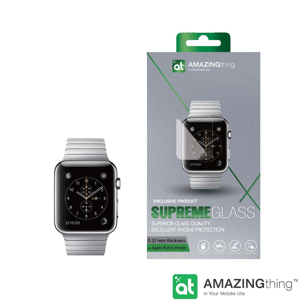 AmazingThing Apple Watch 曲面強化玻璃保護貼 38mm
