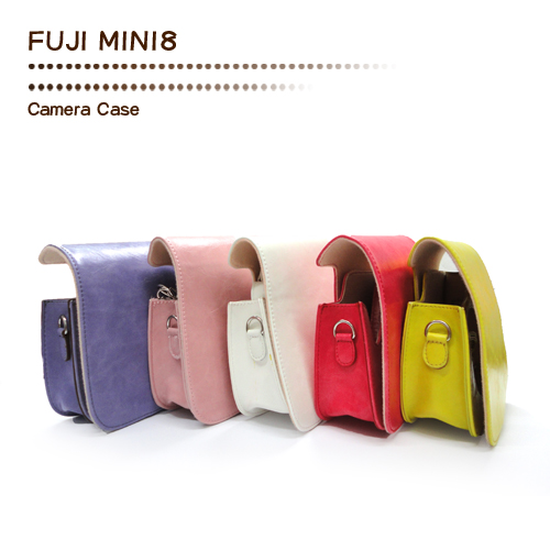 SPLASH 手工皮套 For FUJI MINI 8 (兩件式) 瘋馬型粉紅