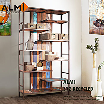 【ALMI】SYZ RECYCLED-BOOK CABINET 船板復古書架