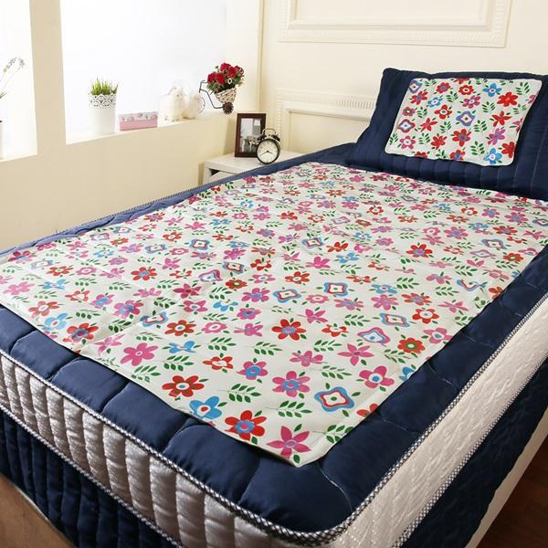 【CoolCold】雙重強效防蚊激涼冷凝床墊-1入-四色可選夏日花園