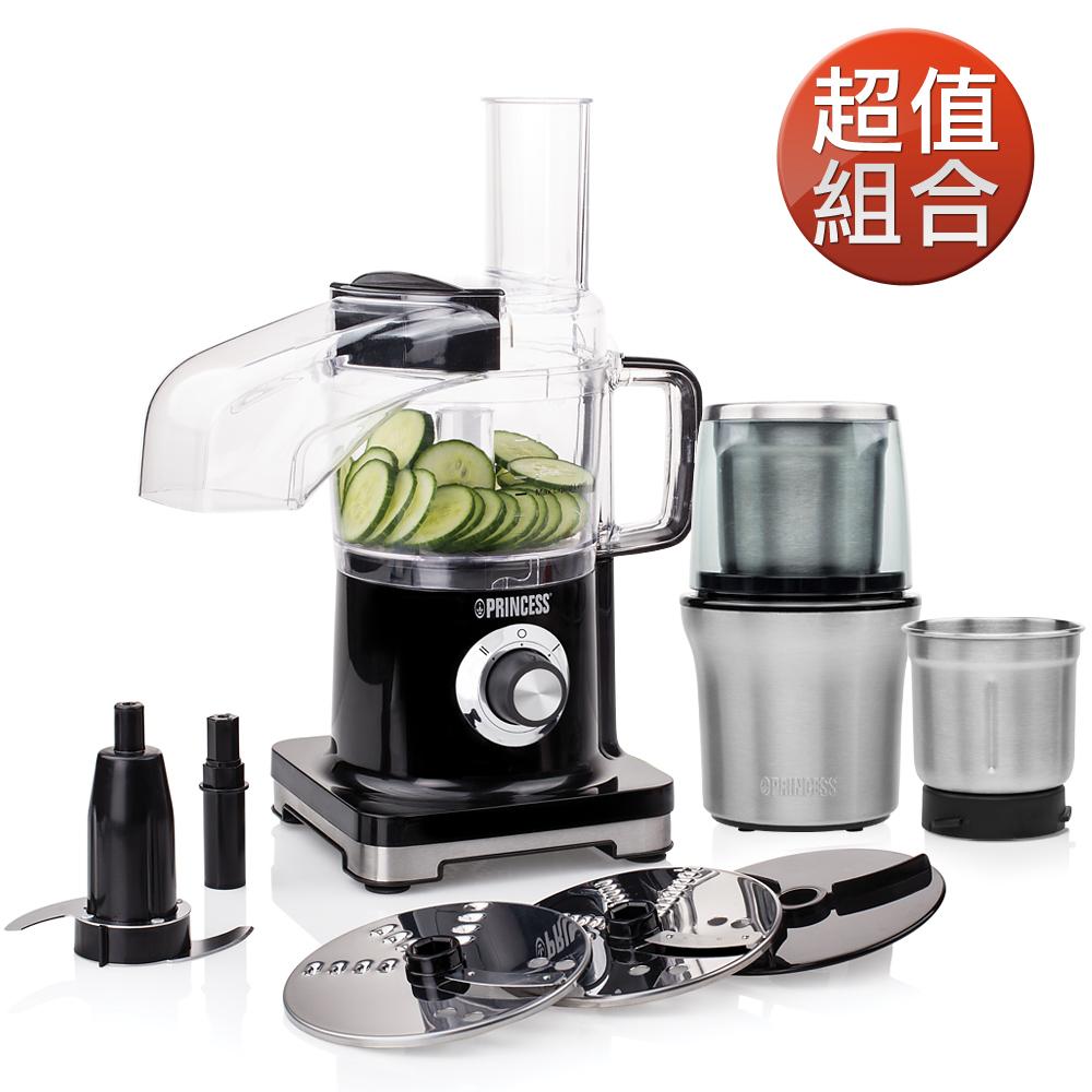 【超值組】荷蘭公主迷你食物調理機+乾溼研磨機(220500+221030)
