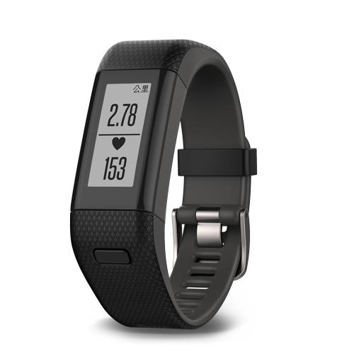 GARMIN v?vosmart? HR+ 腕式心率GPS智慧手環