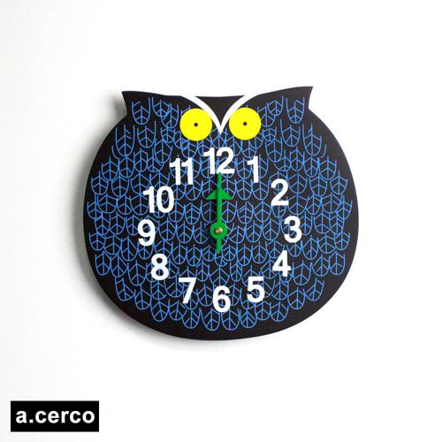 【a.cerco】經典可愛動物園掛鐘(共三款可選)貓頭鷹