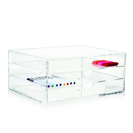Clear 3 Drawer 清透亮 A4 文件盒