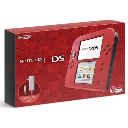 任天堂 2DS 原裝日版主機 (紅) 附原廠充電器+保護貼