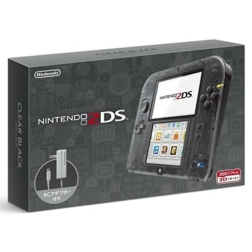 任天堂 2DS 原裝日版主機 (透明黑) 附原廠充電器+保護貼
