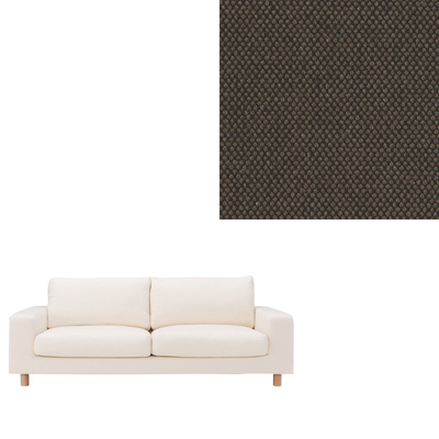 [MUJI無印良品]棉平織寬把沙發套/2.5人座/深棕